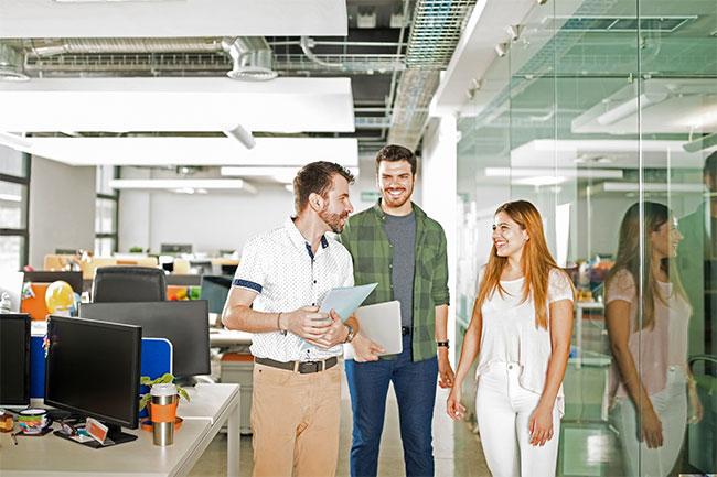 Markus mit Kollegen