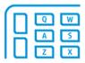 Neu designed, leise Tastatur mit programmierbare Taste